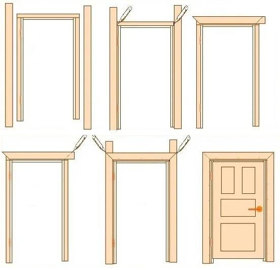 Схема двери и её элементов 2