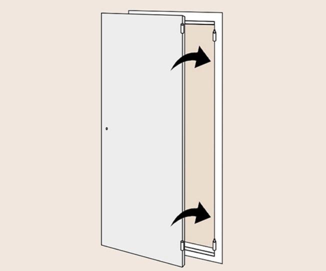 Навешиваем дверное полотно