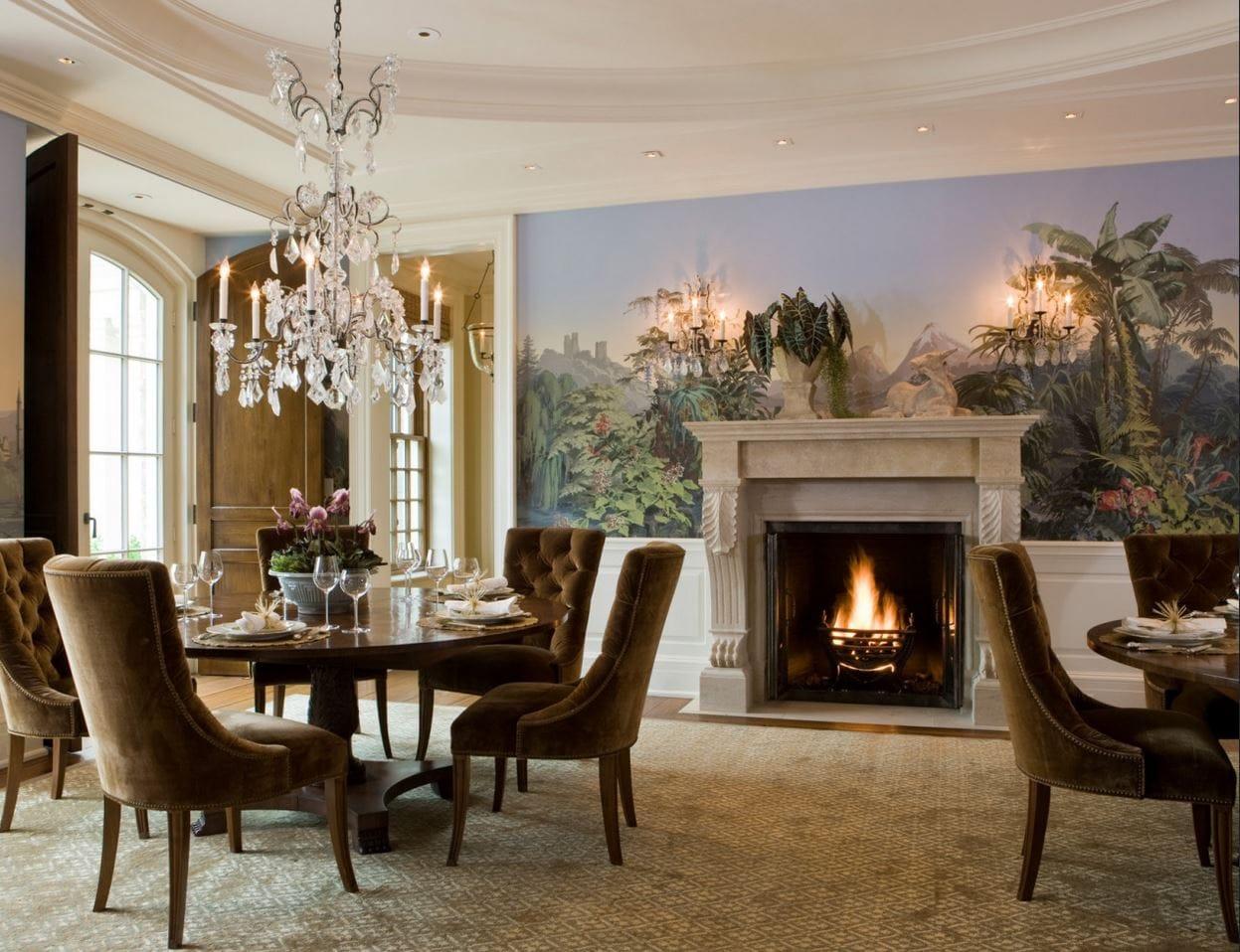 Камин, как центральный элемент интерьера гостиной в стиле Классицизм