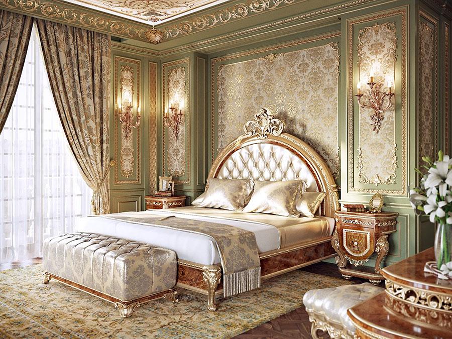 Стилю барокко в интерьере, характерно вызывающе богатый декор