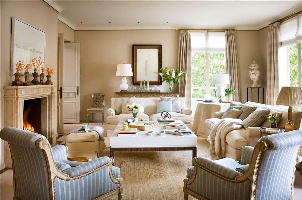 Добротная мягкая мебель, удобные диваны и кресла - это все Английский стиль