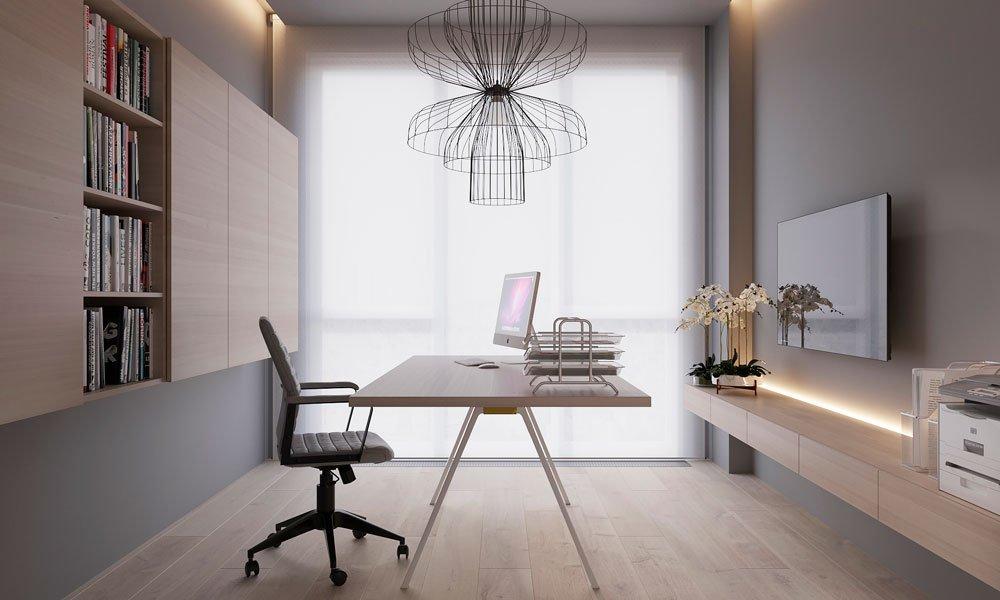 Идеальный, светлый домашний офис – современная актуальность
