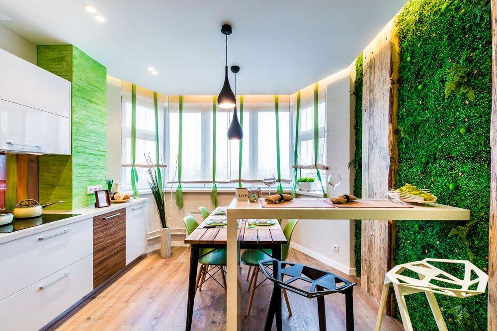 Для минимализма подойдут приглушённые серовато-зелёные оттенки