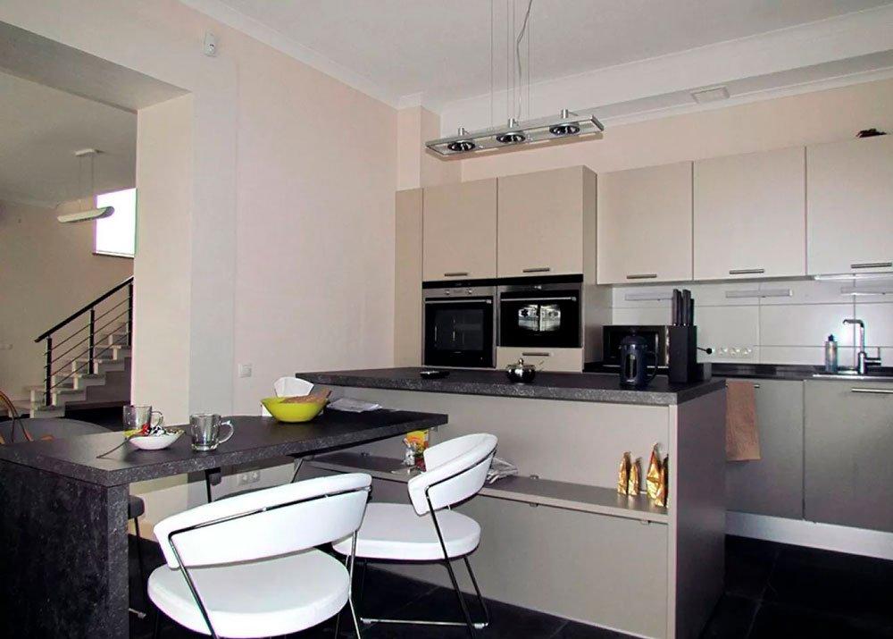 Кухня - студия в стиле минимализм