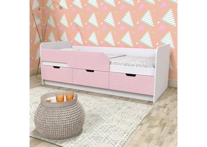 Кровать детская - Binky KEC10A Аляска / Розовый  2