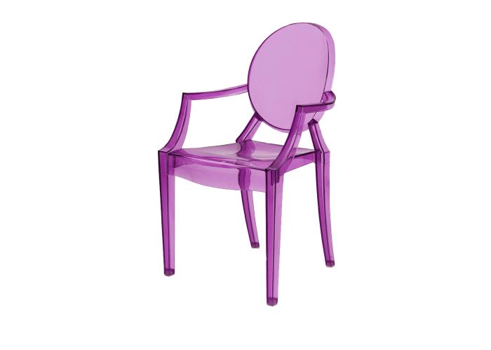 Стул Louis Ghost (фиолетовый)  1