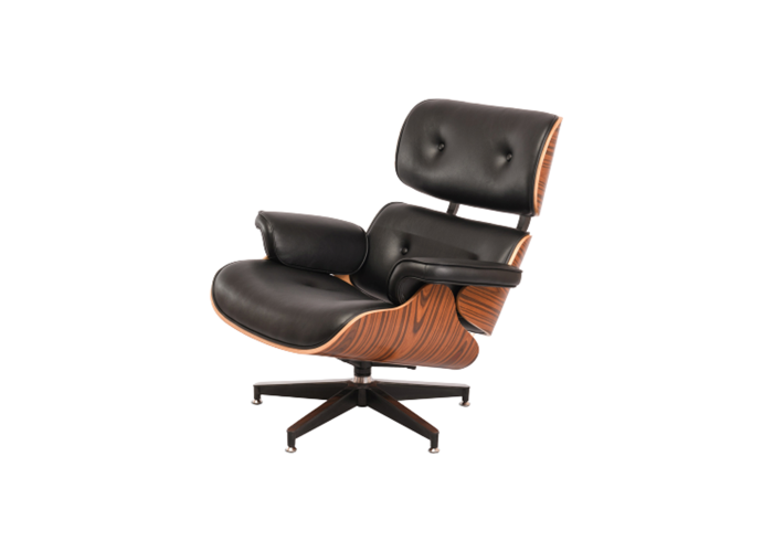 Кресло Eames Lounge Chair (черный)  1
