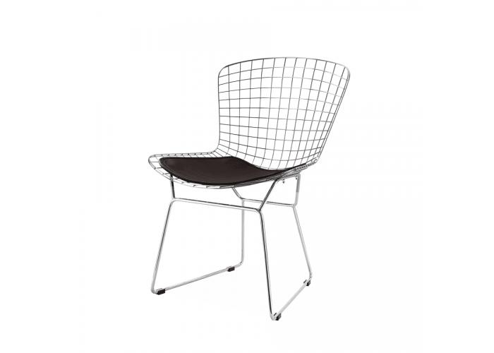 Стул Bertoia Chair хром (черный)  1