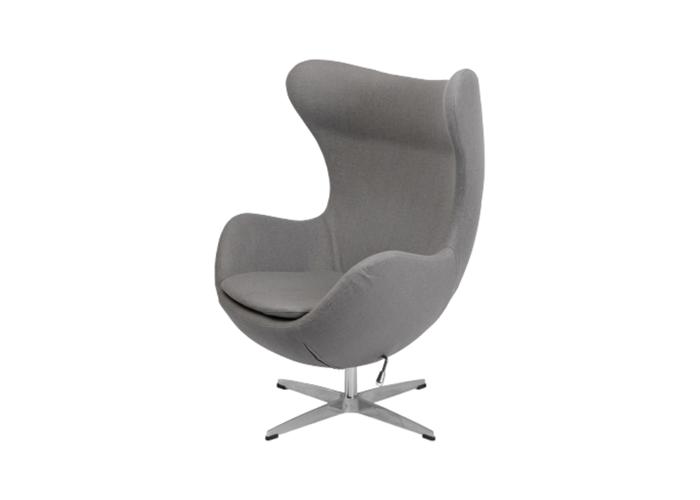 Кресло Egg Chair (шерсть, серый)  1