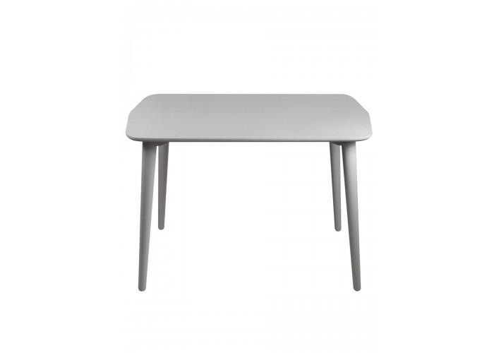 Стол Dan 75*110 серый шелк  1