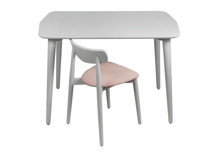 Стол Dan 75*110 серый шелк  3