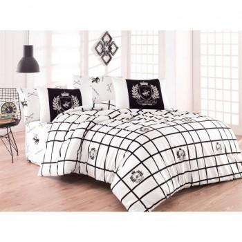 Комплект постельного белья Beverly Hills Polo Club - BHPC 028 Black полуторный