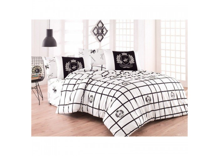 Комплект постельного белья Beverly Hills Polo Club - BHPC 028 Black полуторный  1