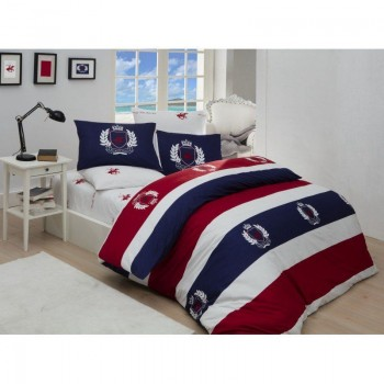 Комплект постельного белья Beverly Hills Polo Club - BHPC 002 Red полуторный