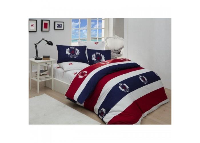 Комплект постельного белья Beverly Hills Polo Club - BHPC 002 Red полуторный  1