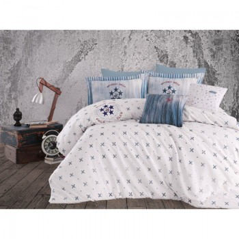 Комплект постельного белья Beverly Hills Polo Club - BHPC 015 White евро