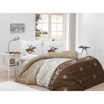 Комплект постельного белья Beverly Hills Polo Club - BHPC 004 Lilak полуторный