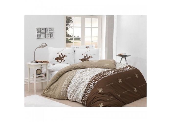 Комплект постельного белья Beverly Hills Polo Club - BHPC 004 Lilak полуторный  1