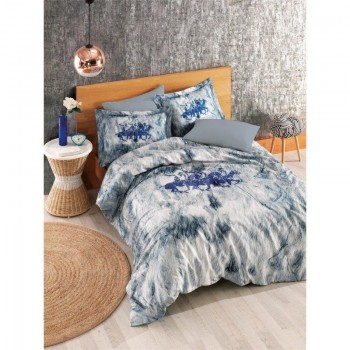 Комплект постельного белья Beverly Hills Polo Club - BHPC 018 Blue евро
