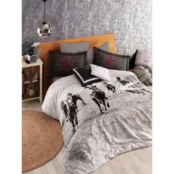 Комплект постельного белья Beverly Hills Polo Club - BHPC 020 Black евро