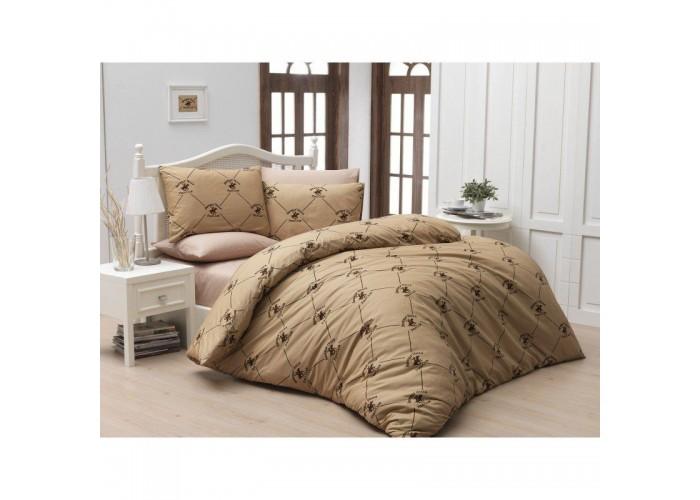 Комплект постельного белья Beverly Hills Polo Club - BHPC 006 Beige полуторный  1