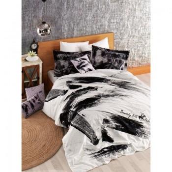 Комплект постельного белья Beverly Hills Polo Club - BHPC 022 Black евро