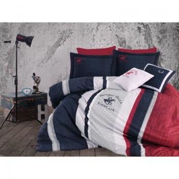 Комплект постельного белья Beverly Hills Polo Club - BHPC 023 Dark Blue евро