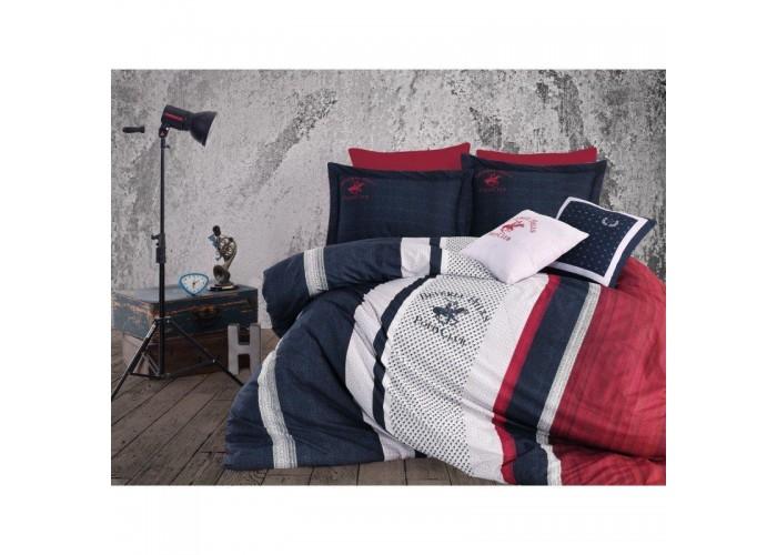 Комплект постельного белья Beverly Hills Polo Club - BHPC 023 Dark Blue евро  1