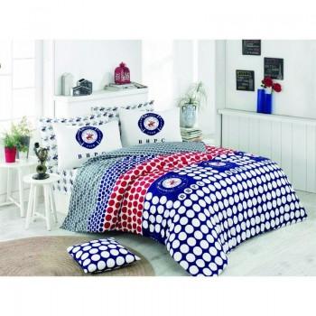 Комплект постельного белья Beverly Hills Polo Club - BHPC 010 Dark Blue полуторный