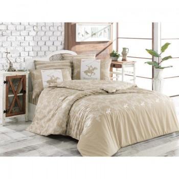 Комплект постельного белья Beverly Hills Polo Club - BHPC 013 Cream полуторный
