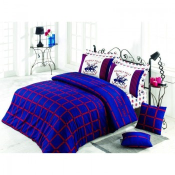 Комплект постельного белья Beverly Hills Polo Club - BHPC 012 Dark Blue полуторный