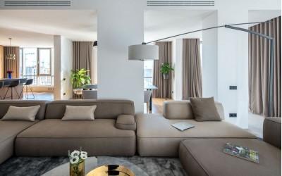 Апартаменты в River Stone от студии дизайна Zooi: практичный и уютный интерьер без лишних деталей