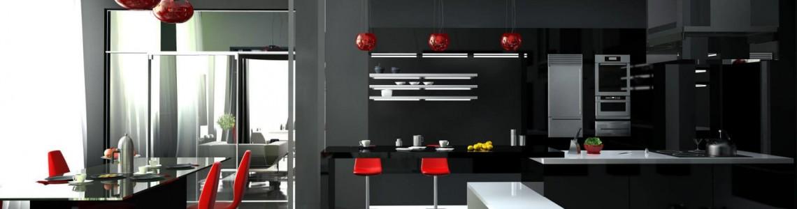 Темная сторона: примеры оформления кухни в чёрном цвете