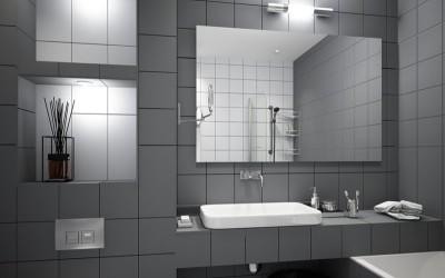 Как использовать серый цвет в интерьере ванной комнаты