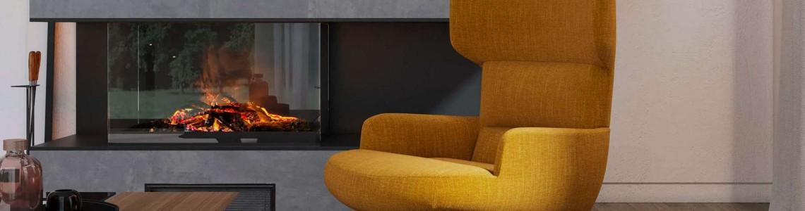 Тепло огня: дизайны уютных гостиных с камином