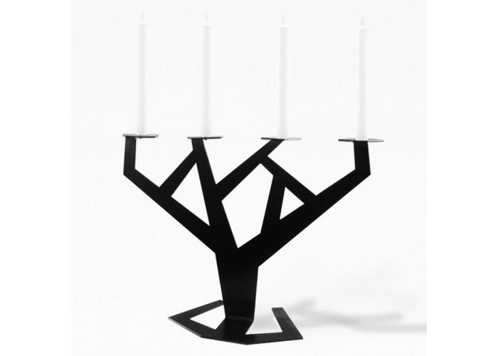 Подсвечник Tree черный  1