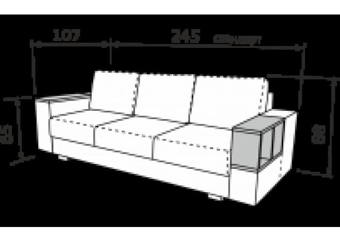 Прямой диван Астон-3  5