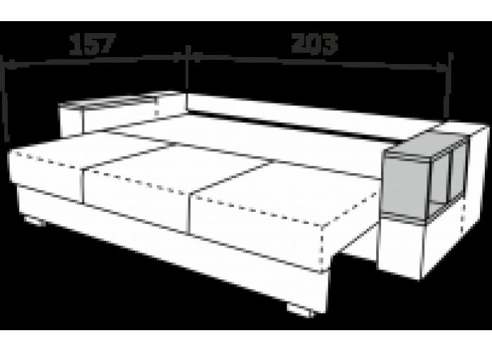 Прямой диван Астон-3  6