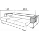 Прямой диван Астон-3