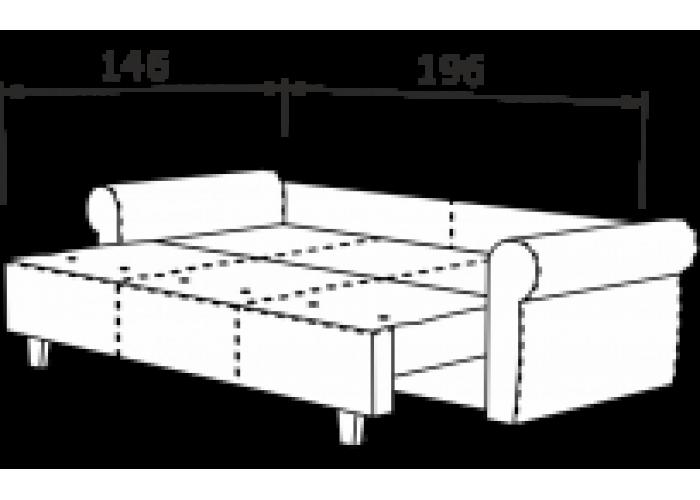 Прямой диван Грета  12