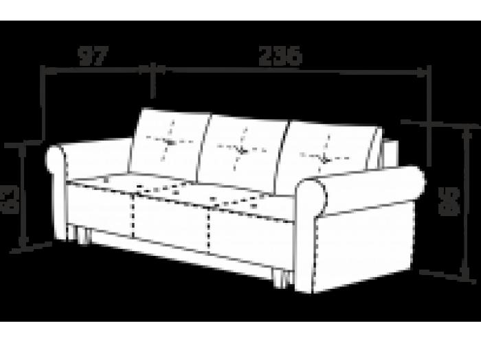 Прямой диван Грета  11