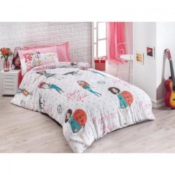 Подростковое постельное белье Eponj Home - Fashion Girl Pembe