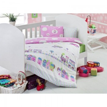 Постельное белье для младенцев Eponj Home - Tren Pembe