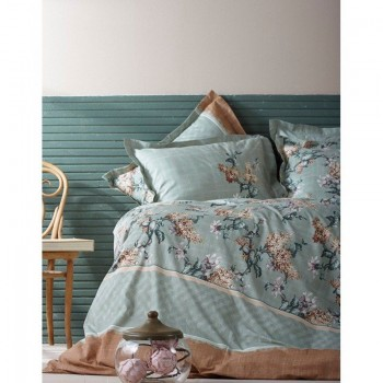 Комплект постельного белья Karaca Home перкаль - Layla зеленый евро