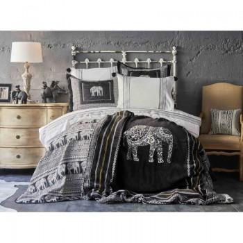 Комплект постельного белья с покрывалом + плед Karaca Home - Alenis 2019-1 евро