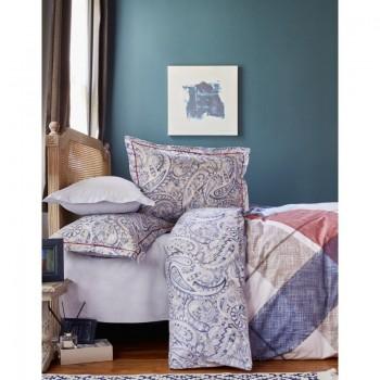 Комплект постельного белья Karaca Home - Latigo bordo 2018-1 бордовый евро