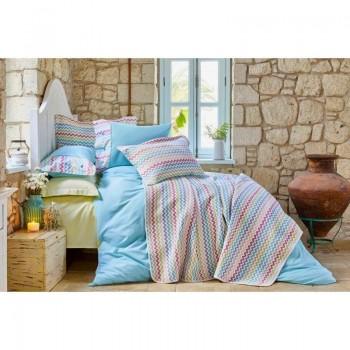 Комплект постельного белья с покрывалом Karaca Home - Mood ZigZag 2018-2 евро