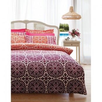 Комплект постельного белья Karaca Home - Berry bordo бордовый полуторное