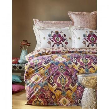Комплект постельного белья Karaca Home - Alambra murdum 2018-1 фиолетовый евро