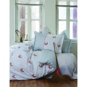 Комплект постельного белья Karaca Home - Alisse зеленый полуторное